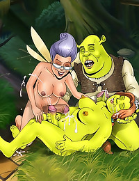 Hardcore Shrek cartoon fuckin...