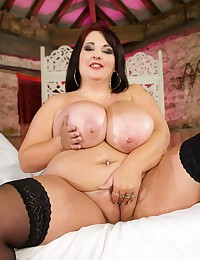 BBW in stockings toys