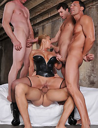 Horny Milf Enjoys Multiple Dicks