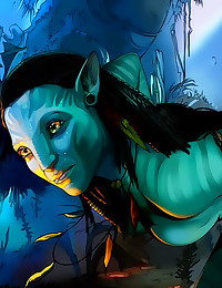 Avatar movie cartoon characte...