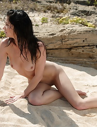 Emily will make your day with this Sun Erotica photo gallery you get to see the stunning brunette modeling on the sand, completely naked from the very start.