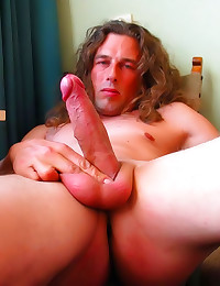 Long haired gay guy solo
