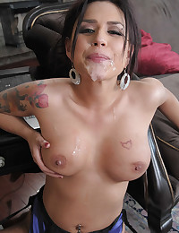 Horny Cheating Wife Covered In Jizz
