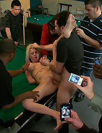 19 year old gets tied up brutally fucked and made to give handjobs to strangers in public!
