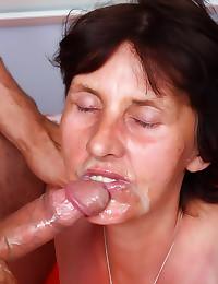 Super old slut fucked hard