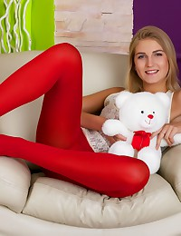 Girl in red nylons gets her tight asshole stuffed