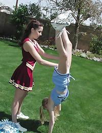 Ronni Tuscadero - Slutty cheerleader college bitches getting nasty outdoors