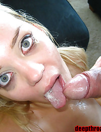 Sex and facial with blonde GF