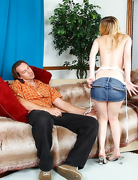 Pretty small tits girl stroke...