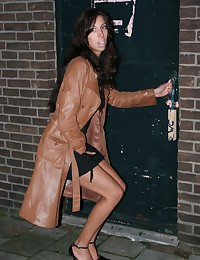 Big lips brunette girl pleasing anonymous guy