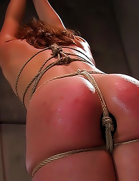 Pretty girl loves rope bondage