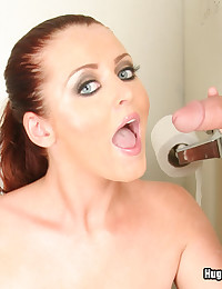 Bathroom Glory Hole Cock Sucking