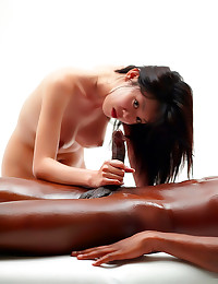Asian massage for black man