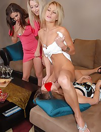 Four Girls In Some Lesbian Fun