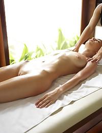 Hegre's Engelie enjoys an erotic massage.