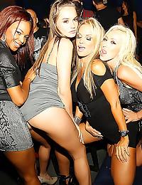 Hot pornstars at a party