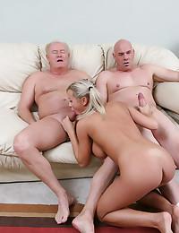 Blond Cutey Loves Old Men