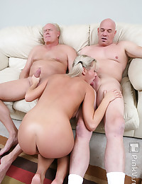 Blond Cutey Loves Old Men