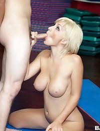 Curvy Blonde Goddess Lexi Gets Drilled
