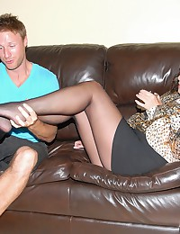 Luscious Brunette Cougar Loves Younger Cock