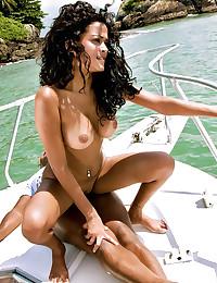 Horny nymph fucked on boat