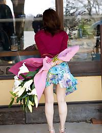 Japanese girl in pretty panti...