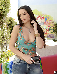 Sexy solo milf outdoors