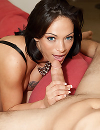 Pretty chick loves big cock