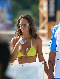 Solo beach babes in bikinis
