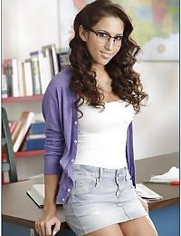 Hot nerd in glasses