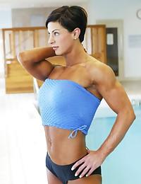 Drawings of very muscular women.