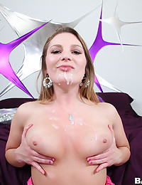 Curvaceous Aurora Gets Covered In Cum