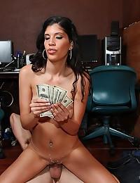 Latina paid for big cock sex