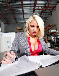 Satin blouse office babe fuck...