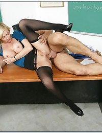 Blond Spreads For Cock