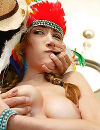 Wild costume bondage scene