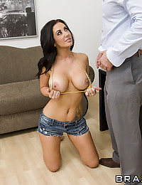 Big tits babe filled with bone