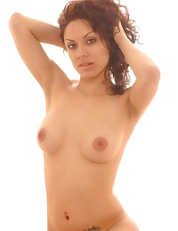 Fully nude young honey in see...