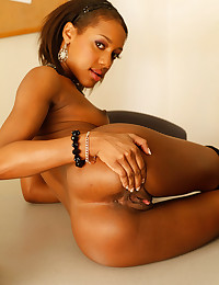 Black schoolgirl striptease
