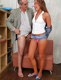 Sexy coed rammed by her perverted tutor in his office.