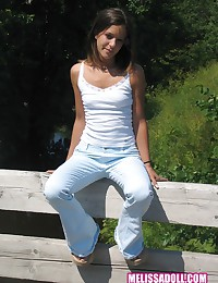 Melissa Doll - Girl in tight pants walking down the country road