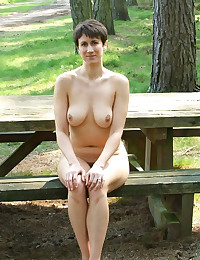 Nude exhibitionists in town