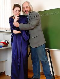 Teacher fucks her on graduation