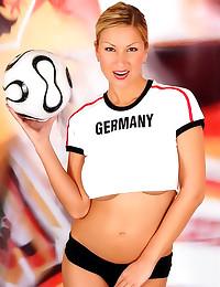 Big tits blonde soccer babe