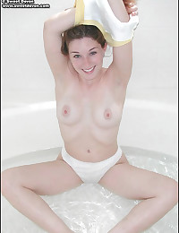 Sweet Devon - Sinful young chick teasing with her juicy perky breasts
