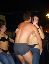 Drunk naked dancing at party