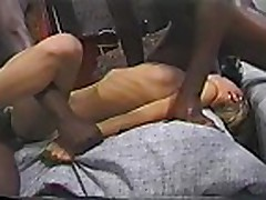Phyllisha Anne as sex slave to two hung black dude
