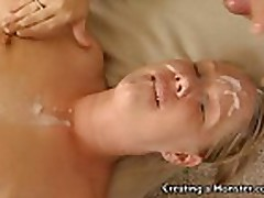 Johnny Load give guys wife facial