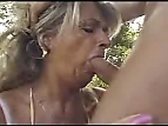 Granny fucked outside