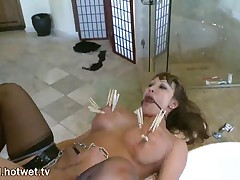 Ava Devine - This Kinky Brunette MILF With Big Tits Loves BDSM And Getting Her Face Covered With Cum